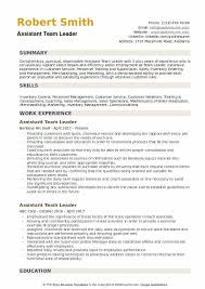 How To Be A Good Team Leader At Work Assistant Team Leader Resume Samples Qwikresume