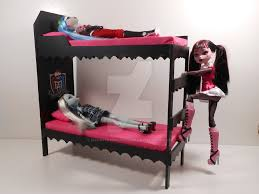 Monster High Furniture PINK Dorm Bunk Beds 2 by