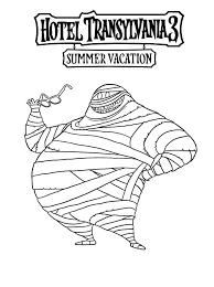 Kids N Fun Kleurplaat Hotel Transylvania 3 Summer Vacation Mummy