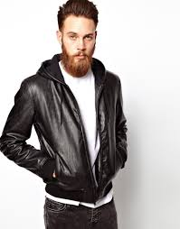cabinet beautiful leather look mens jackets 2 asos jacket with hood leather look mens