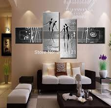 modern wall art decor ideas hand painted modern abstract home decoration wall art 4 piece set silver grey canvas oil painting picture on wall art 4 piece set with wall art designs modern wall art decor ideas hand painted modern