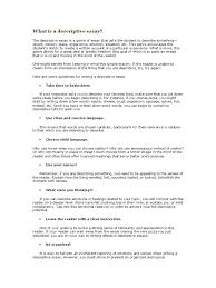 what is a descriptive essay senses essays