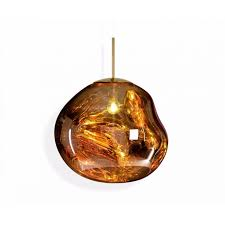 melt pendant gold