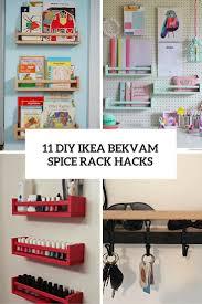 Ikea Kitchen Spice Rack 11 Diy Ikea Bekvam Spice Rack Hacks Shelterness