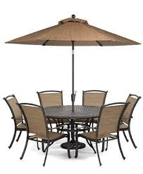 patio table and 6 chairs: paradise outdoor  piece set quot round dining table and  dining chairs