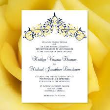 printable wedding invitation template victoria Wedding Invitations Navy And Yellow printable wedding invitation template \