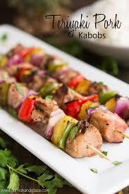 easy teriyaki pork kabobs made with extra lean and tender hormel s premarinated pork tenderloin