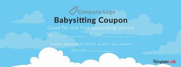 babysitting gift certificate template free babysitting gift certificate free printable babysitting coupon