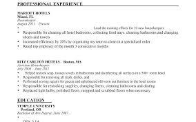 Resume Sample For Housekeeping Housekeeping Supervisor Resume Sample