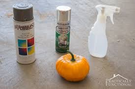 turn a foam dollar pumpkin into a faux mercury glass pumpkin with spray paint and