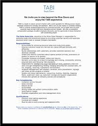 Resume For Sales Associate Retail Clothing Sales Associate Resume Hvac Cover Letter Sample 91