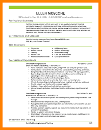 Certified Nursing Assistant Resume Objective Beautiful Online ...