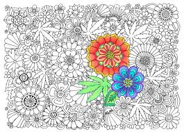 Adult Coloring Page Hippie Garden Printable Coloring Page