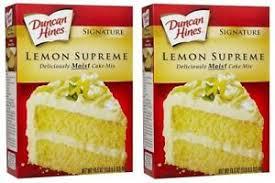 Duncan Hines Signature Lemon Supreme Cake Mix 165 Oz Box 2