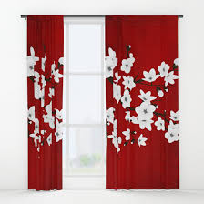 impressive designs red black. Nice Red Black Curtains Designs With And White Cherry Blossoms Window Baydur Impressive