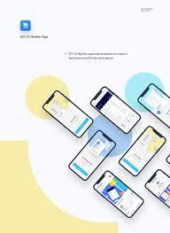 App Resume Ezy Cv Resume Builder Mobile App On Behance