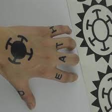 Welcome to r/onepiece, the community for eiichiro oda's manga and anime series one piece. Hot Anime One Piece Sticker Trafalgar Law Cosplay Tattoo Trafalgar D Water Law Logo Tatoo Costume Props Aliexpress