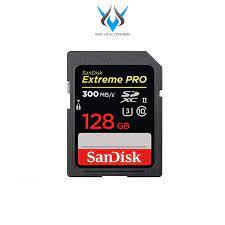 Thẻ nhớ SDXC Sandisk Extreme Pro UHS-II U3 2000x 128GB 300MB/s (Đen) chính  hãng 4,639,000đ
