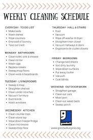Weekly Household Cleaning Schedule House Cleaning Schedule App Kitchen Cleaning Check List Restaurant