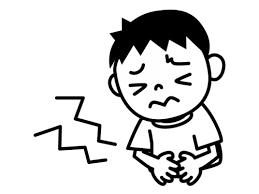 下痢腹痛の白黒イラスト かわいい無料の白黒イラスト モノぽっと