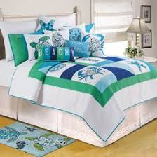 Beach Bedding, Over 300 Comforters & Quilts In Beachy Themes & C & F Meridian Waters Bedding Adamdwight.com