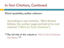 in text cite mla academic writing direct quotes mla