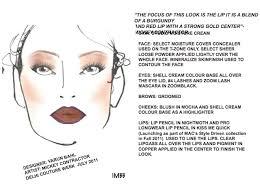 Mac Makeup Face Charts Makeup Photographs At Varun Bahl