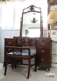 vintage dressing table gets a french country makeover by prodigal pieces prodigalpieces com