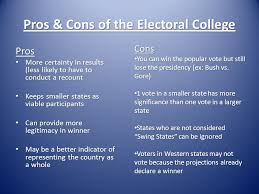 how are electoral college votes divided among the various states 11 pros cons of the electoral college