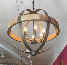 monorail pendant lighting unique metal wood sphere chandelier great for a rustic look