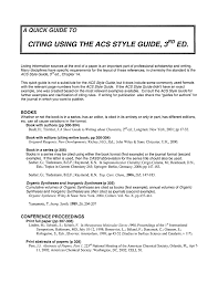 Acs Style Guide Ed Citing Using The 3