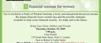 Seminar Invitation Templates Fresh Financial Seminar Invitation Ur31 Documentaries For Change