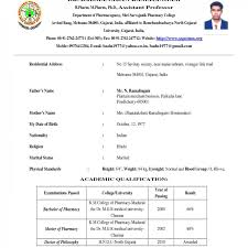 Cv And Resume Format Pdf For Fresher Or Mca Free Download In India 1