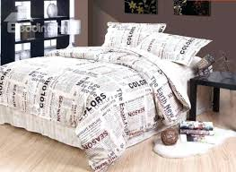unique bedding sheets new style unique newspaper pattern 4 piece cotton duvet cover sets covers black unique bedding sheets