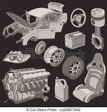 Image result for auto parts graphic B&W