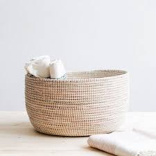 woven basket with lid. Georgia Woven Storage Basket - White With Lid 9