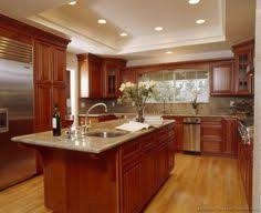 cherry cabinet kitchen designs.  Designs Kitchens Traditional Medium Wood Cherry Color Natural Top  Kitchen Island Classic Efurniture Mart   Best Free Home Design Idea U0026  With Cabinet Designs R