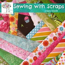 Sewing with Scraps - Crazy square block - The Sewing Loft & Sewing with scraps easy crazy block how to | The Sewing Loft Adamdwight.com