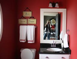 Dark Red Bathroom Best Color For A Room With Black And White Vanity Mirror With