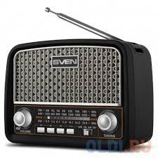 <b>Радиоприемник SVEN SRP-555</b>, черный-серебро — купить по ...