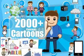 2000 Royalty Free Cartoon Vectors Only 27 Mightydeals