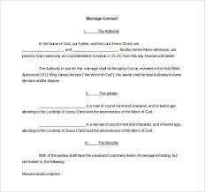 Wedding Contract Templates - April.onthemarch.co