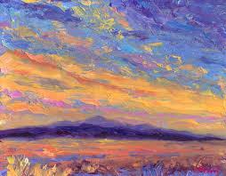 sunset oil painting asheville blue ridge