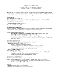 Criminal Justice Resume Beauteous Chelsea Green Criminal Justice Resume Sample Resume Printable
