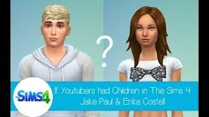 If Youtubers Had Children in The Sims 4: Jake Paul and Erika Costell -  YouTube