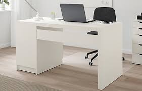 White work desk Workstation Desk Desks Ikea Desks Office Writing Computer Desks At Ikea