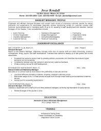 banquet resume sample