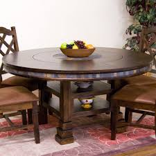 round dining table with lazy susan. Sunny Designs 1225DC Santa Fe 60\ Round Dining Table With Lazy Susan -