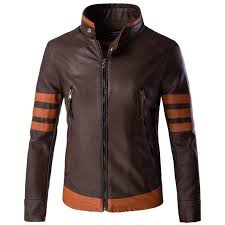 auegfiip aode hot fashion boutique men s collar collar wolf style coffee jacket leather