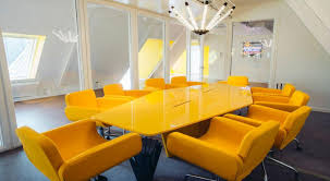 Yellow Office The Yellow Conference Room At Paymentwall Office Photo